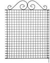 bellissa Teichschutz-Zaun Ambiente mit nostalgischer Verzierung - 92850 - Dekorativer Zierzaun für Abgrenzungen im Garten - 76 x 95 cm, grün