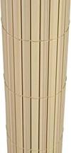 TOP MULTI PVC Sichtschutz-Matte für Balkon/Garten 1m x 5m natural-bamboo beige | Sichtschutz-Zaun inkl. Befestigung + wetterfest | Windschutz-Matte | Blende | Blickschutz-Zaun | Balkon-Verkleidung