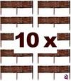 Floranica® Beeteinfassung, Weiden-Zaun, Steckzaun in 25 Größen, imprägniert mit Buchepflöcke für längere Haltbarkeit, Beet-Umrandung, Weg-Abgrenzung, Länge:10 STK. x 30 cm, Höhe:30 cm
