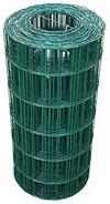 Garmix 25 Meter Maschendrahtzaun Gitterzaun Drahtzaun grün Höhe 60 cm Maschenweite 7,5 x 10 cm Gartenzaun