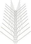 3 Meter Edelstahl Taubenabwehr | 4-reihig | Gesamtlänge 300 cm | 6 Elemente a 50 cm Vogelabwehr | Mit Klickverschluss und Sollbruchstellen