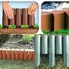 rg-vertrieb Palisade Beetumrandung Rasenkante Beeteinfassung Zaun 2,3m grün braun terrakotta zur Auswahl (Grün)