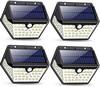 4er-Set Solarlampen für Außen mit Bewegungsmelder