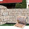 Plantiflex Sichtschutz Rolle 35m Blickdicht PVC Zaunfolie Windschutz für Doppelstabmatten Zaun (Stein-Terracotta)