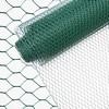 INDUTEC Sechseckgeflecht Drahtzaun Drahtgeflecht Gartenzaun Hasendraht - grün - MW: 13 mm | H: 100 cm | L: 10 m Rolle