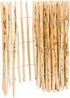 BOGATECO Staketenzaun Haselnuss Kastanie | Holz-Zaun 90 cm Hoch & 500 cm Lang | Lattennabstand 4-5 cm | Perfekt als Gartenzaun