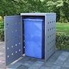 Festnight Mülltonnenbox für 1 Tonne 240 L Edelstahl Mülltonnenverkleidung Müllbox Mülltonne Müllcontainer