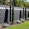 Premium Zaunsichtschutz HART-PVC / 40 x Streifen 2,525 m (1,58 EUR/m) / Höhe 19 cm Anthrazitgrau - Zaun Sichtschutzstreifen für Doppelstabmattenzaun Zaun Sichtschutz anthrazit