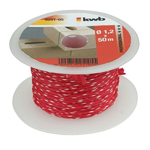 kwb Maurerschnur 50m, Stärke 1,2mm, Richtschnur in Rot – verschiedenen Farben, Längen und Stärken
