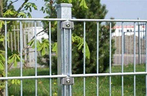 Doppelstab-Mattenzaun Komplett-Set / Verzinkt / 163cm hoch / 30m lang / Metallzaun Zaun Zaunanlage Gartenzaun