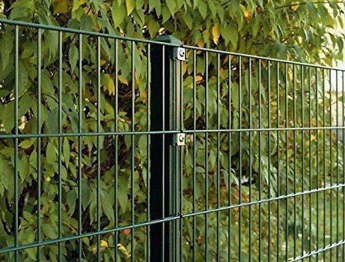 Doppelstab-Mattenzaun Komplett-Set / Anthrazit / 163cm hoch / 30m lang / Metallzaun Zaun Zaunanlage Gartenzaun