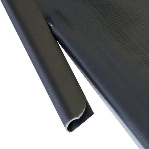 MCTECH® 30/50 Stück Universal Befestigungsclips Klemmschienen für PVC Sichtschutzstreifen – Anthrazit (50 Stück)