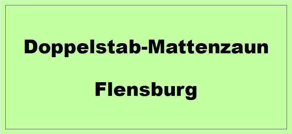 Doppelstabmattenzaun + Sichtschutz in Flensburg Schleswig-Holstein preiswert kaufen