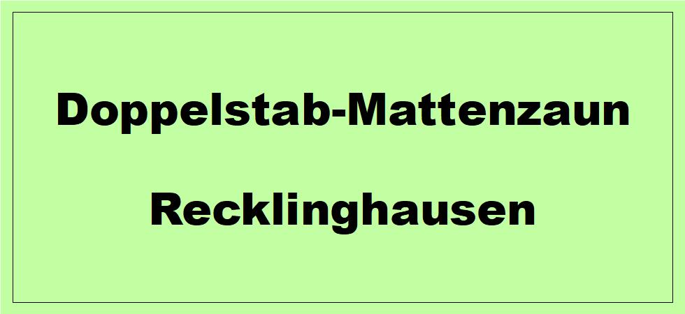 Doppelstabmattenzaun in Recklinghausen NRW preiswert kaufen.