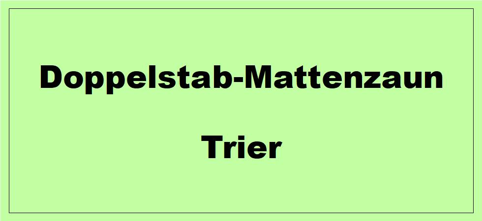 Doppelstabmattenzaun in Trier ( Rheinland-Pfalz ) preiswert kaufen.