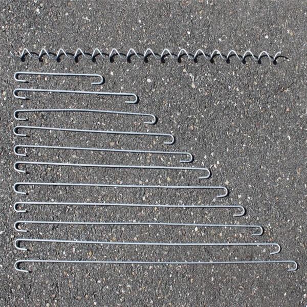 Distanzhalter + kostenloser Versand / Distanz-Haken Spirale Spiralen Metall 4mm für Gabione / Gabionen, Zubehör für Gabionen, Ersatzteile Gabionen (10x Distanzhalter – 30cm)
