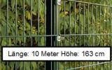 10 Meter Doppelstabmattenzaun Höhe 163 cm