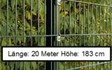 20 Meter Doppelstabmattenzaun Höhe 183 cm