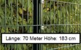 70 Meter Doppelstabmattenzaun Höhe 183 cm