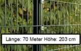 70 Meter Doppelstabmattenzaun Höhe 203 cm