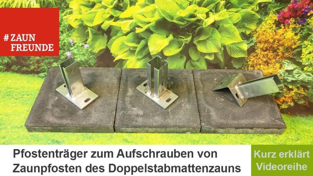 Mit Hilfe von Pfostenträgern befestigen Sie Ihre Zaunpfosten auf Betonmauern.