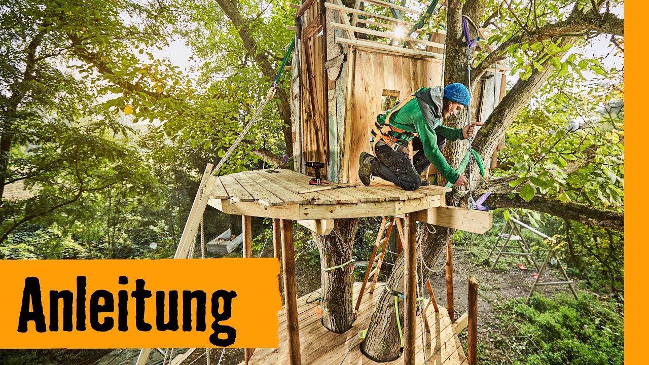 Baumhaus Bauen Aufgehangt Hornbach Meisterschmiede