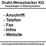 Draht-Weissbäcker KG | Zaunanlagen in Dieburg Hessen | PLZ 6