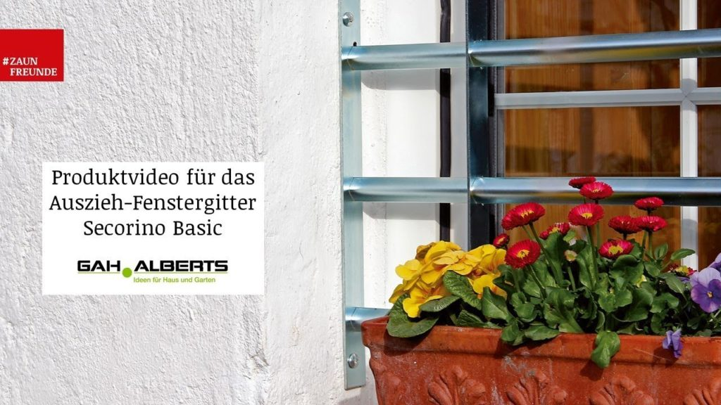 Fenstergitter Secorino Basic von GAH Alberts - Produktvideo