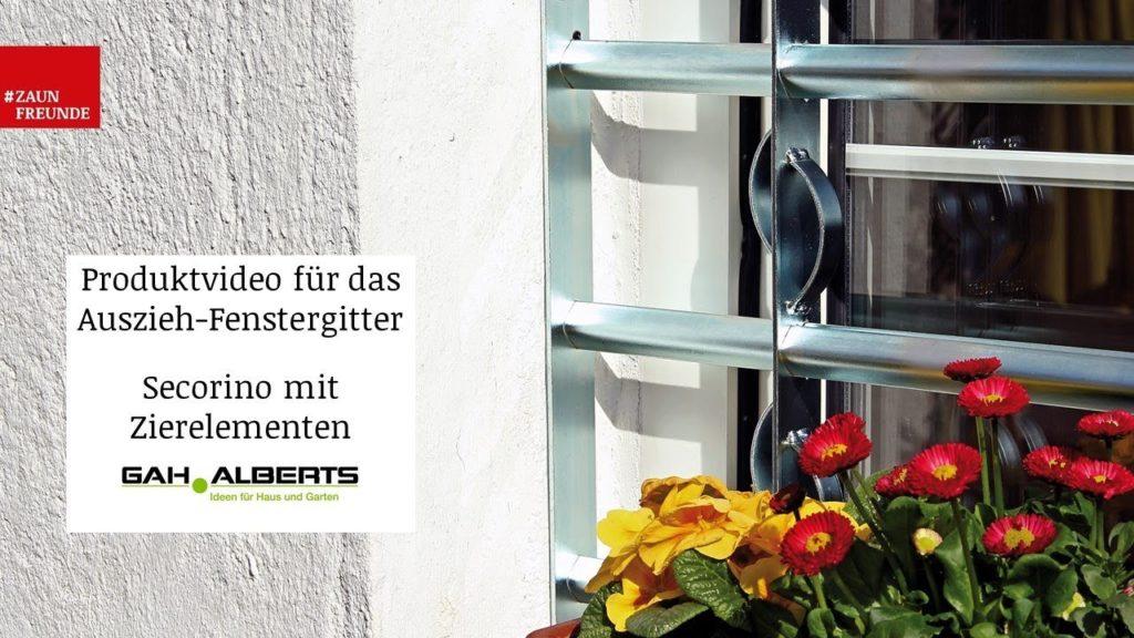 Fenstergitter Secorino mit Zierelementen von GAH Alberts - Produktvideo