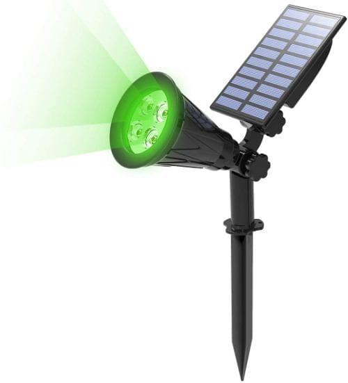 Erdspieße mit großem Solarpanel für zuverlässige Beleuchtung