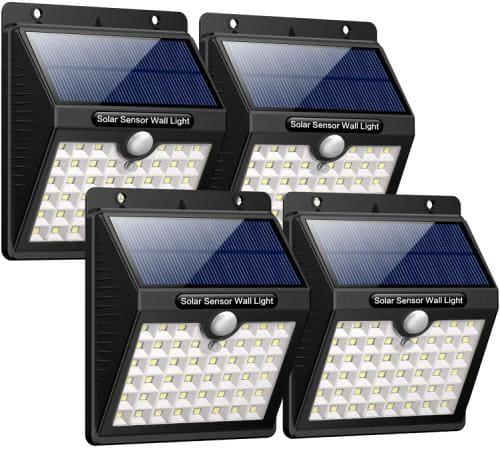 Solarlampen mit Bewegungsmelder für Wand oder Zaun