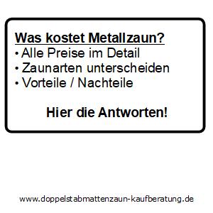 Was kostet Metallzaun?