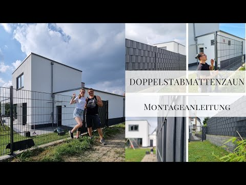 Doppelstabmattenzaun aufdübeln Montage|Tutorial Sichtschutzstreifen Zaun Zaunanlagen-profi.de