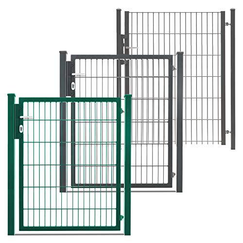 Hori® Gartentor für Doppelstabmattenzaun I Gartentür in anthrazit-grau I Modell Basic I Höhe 103 cm