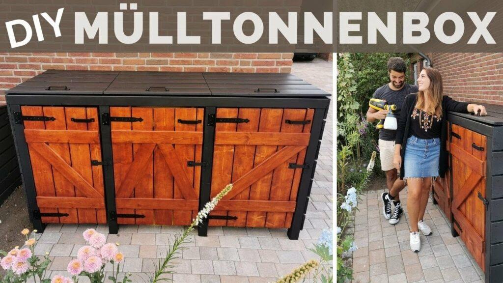 Mülltonnenbox selber bauen | Mülltonnenverkleidung DIY Anleitung | Müllbox aus Holz selber machen