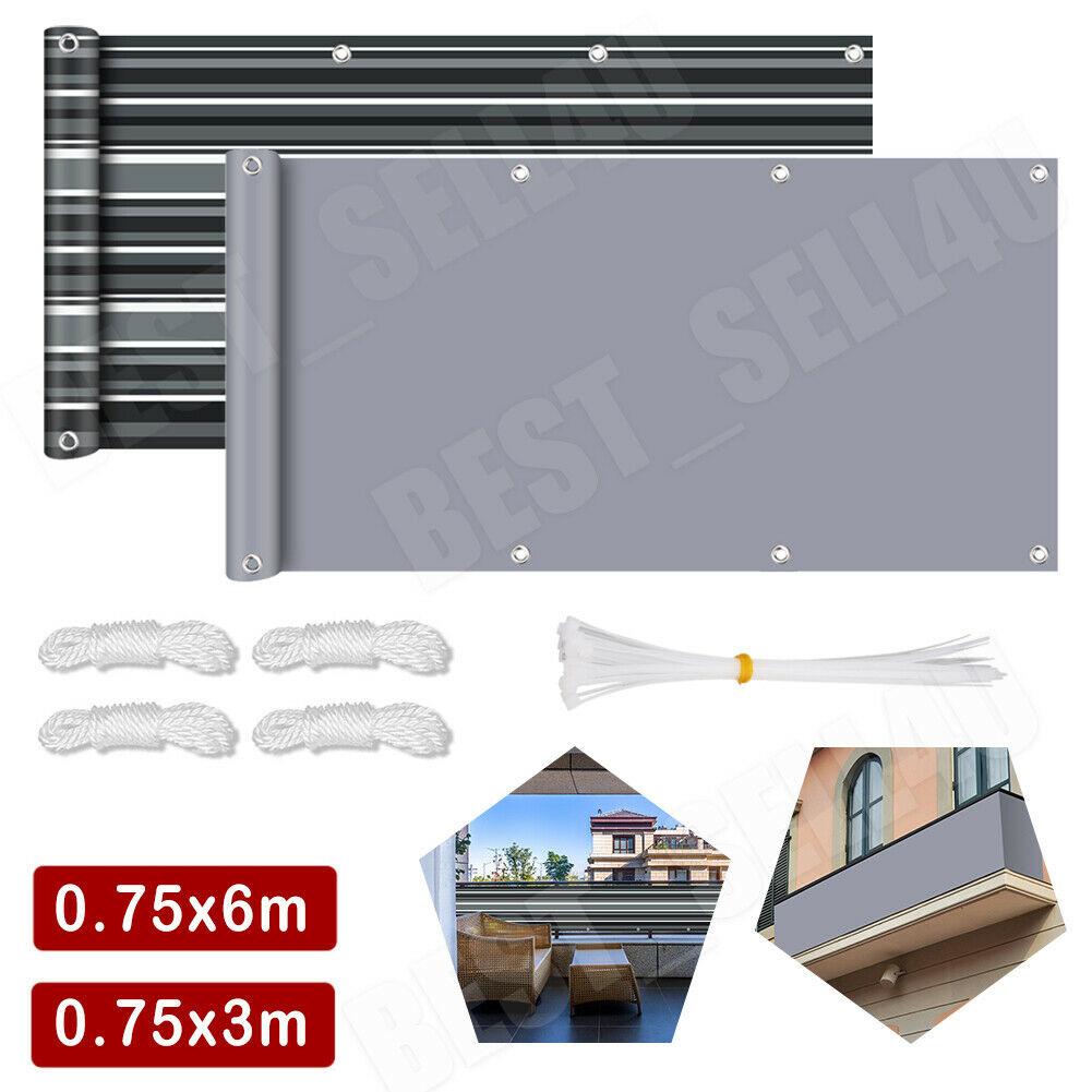 Sichtschutz Markise Balkon Zaun Windschutz Balkonbespannung Balkonverkleidung