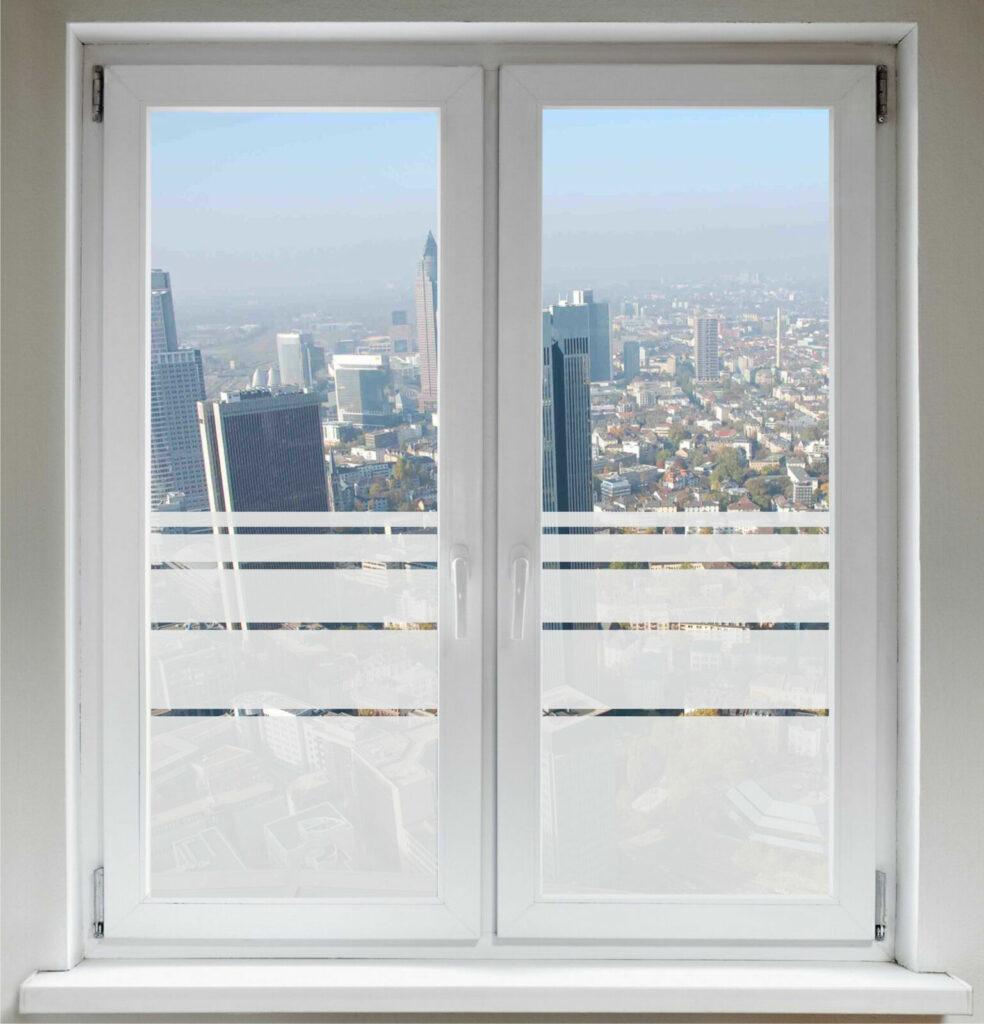Sichtschutzfolie - Fensterfolie Glasdekorfolie - verschiedene Streifen G96 Deko