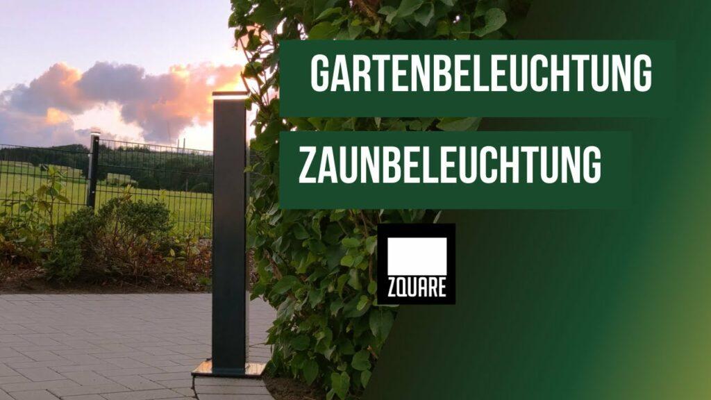 Gartenbeleuchtung Zaunbeleuchtung von ZQAURE