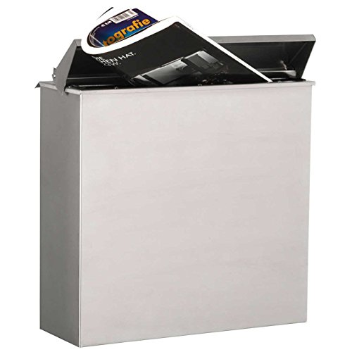 Max Knobloch Zaunbriefkasten Chicago Briefkasten Edelstahl Durchwurf-Briefkasten Zaunmontage Entnahme hinten