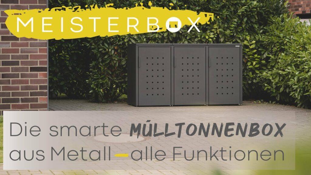 Mülltonnenbox aus Metall [alle Funktionen] – die MEISTERBOX ist die perfekte Mülltonnenverkleidung