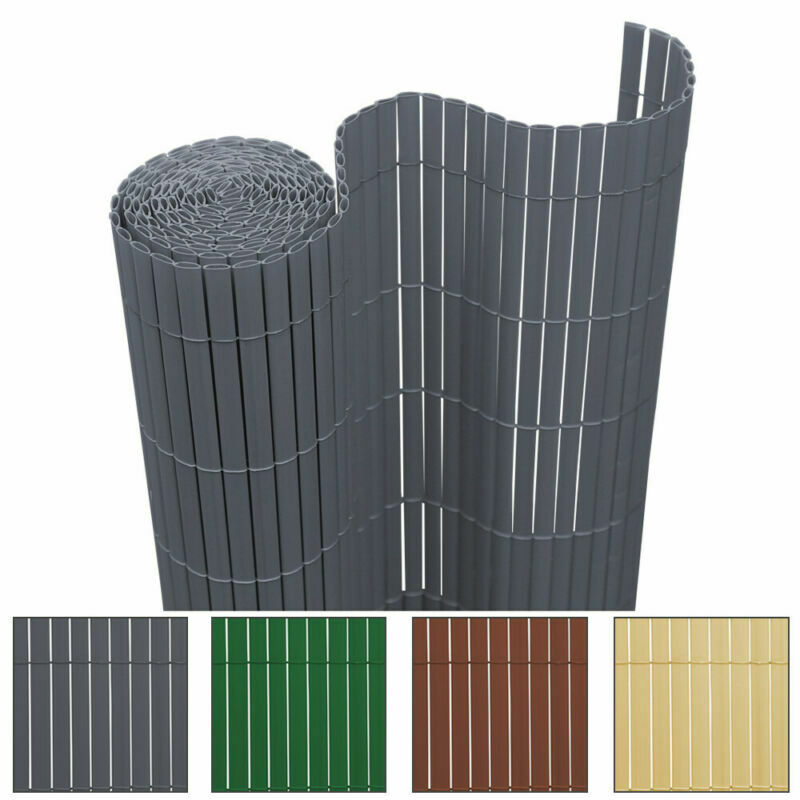 PVC Sichtschutzmatte Sichtschutzzaun Balkon Garten Sichtschutz Zaun Windschutz